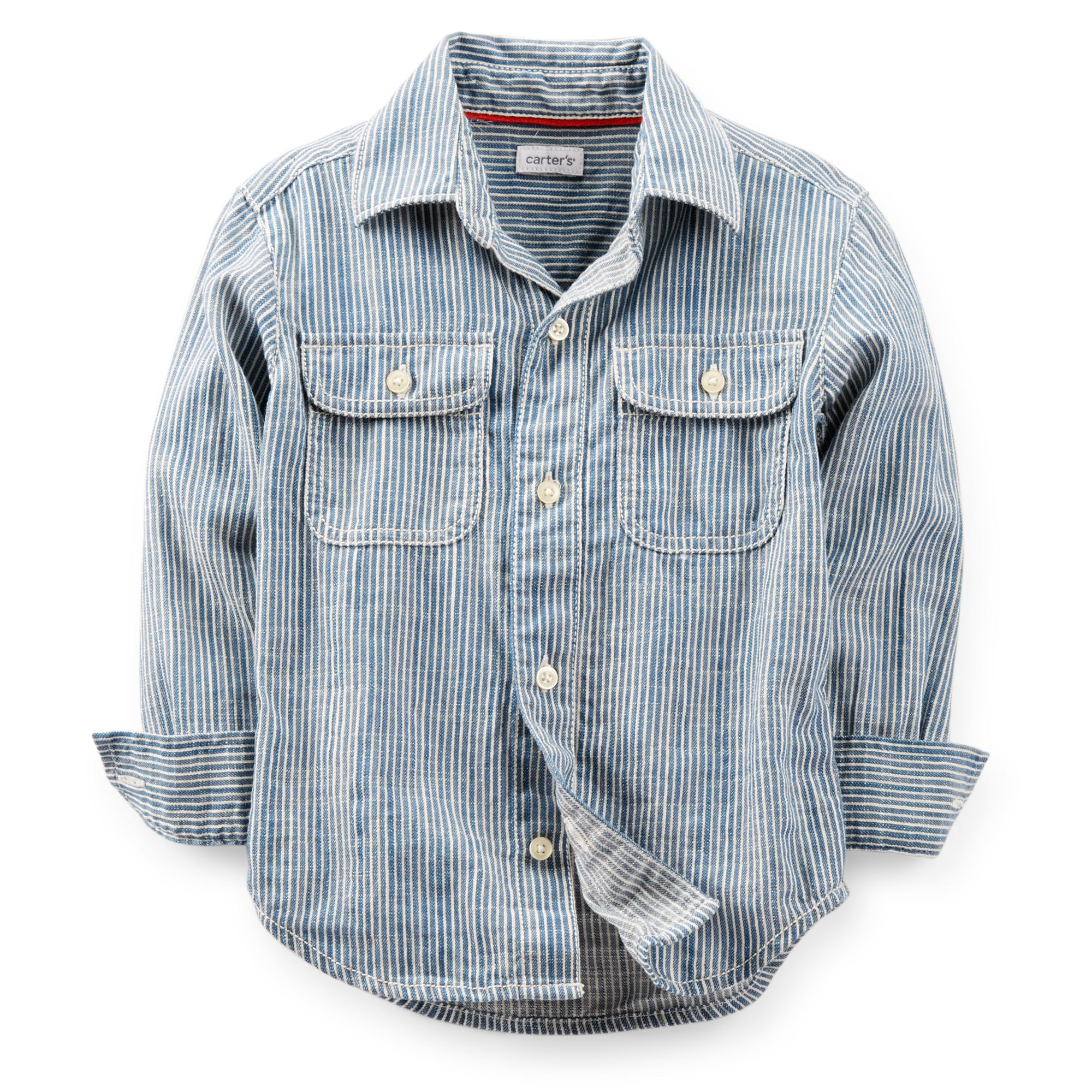 Carter's Button-Front Stripe Shirt