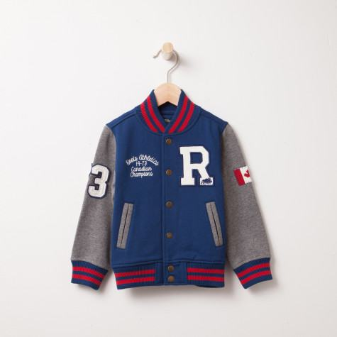 Roots Fleece Varsity Jacket