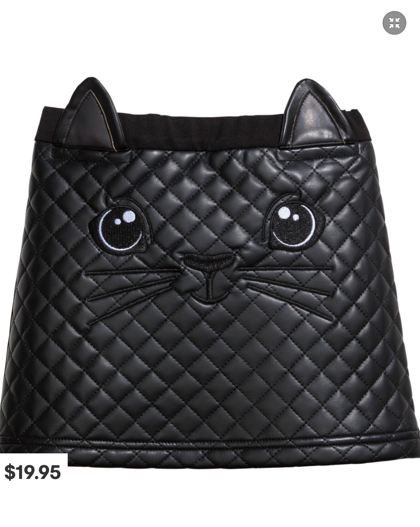 H&M Quilted Cat Skirt