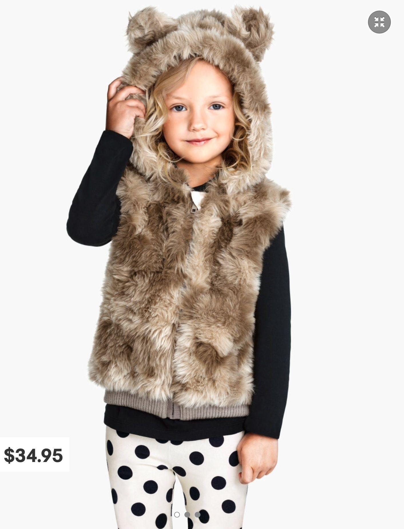 H&M Fake Fur Waistcoat