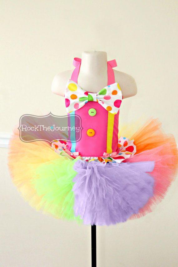 Pink Polka Dot Clown Tutu Outfit