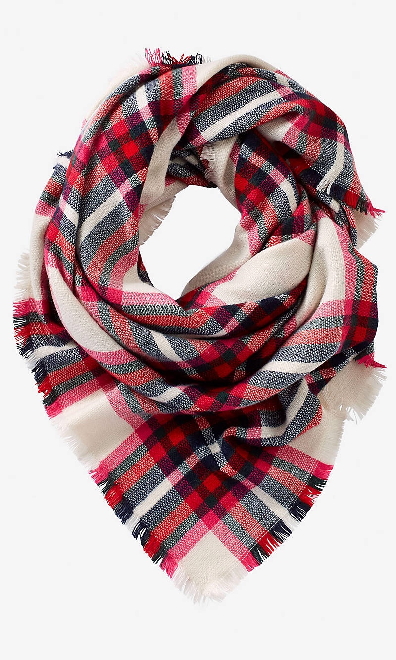 my current obsession plaid blanket scarves. Black Bedroom Furniture Sets. Home Design Ideas