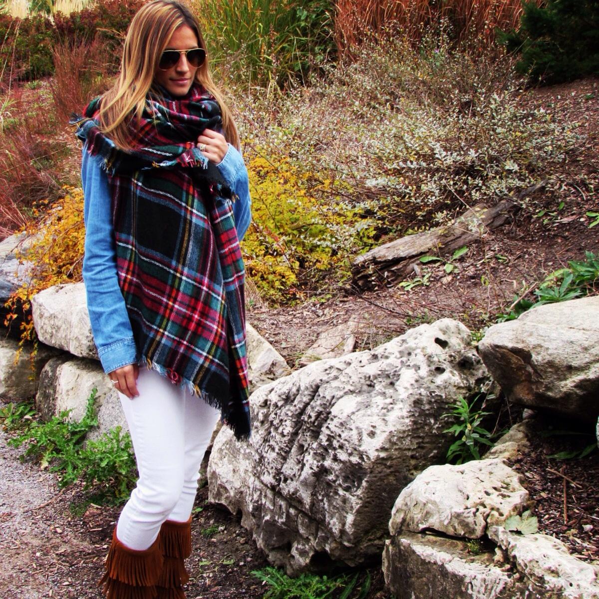 Sparkleshinylove-plaid-blanket-scarf