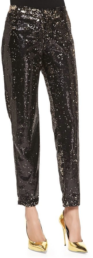 CJ by Cookie Johnson  Prominent Sequined Ankle Pants