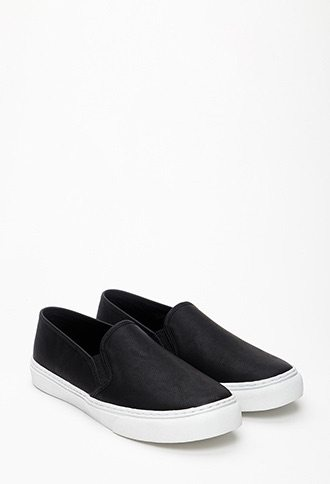 Forever 21 Faux Leather Slip On's