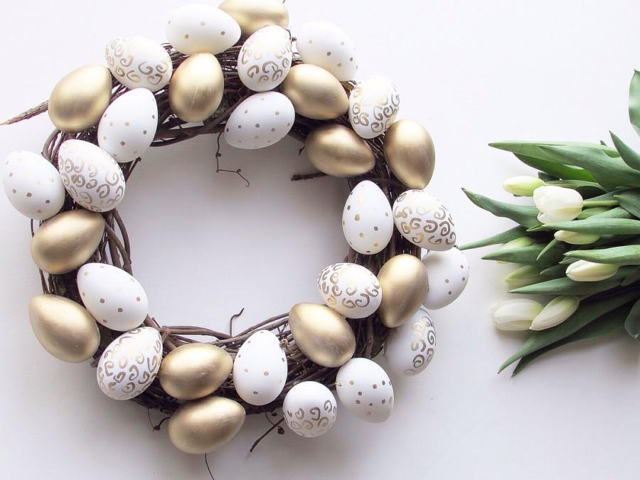 DIY Painted Easter Wreath sparkleshinylove