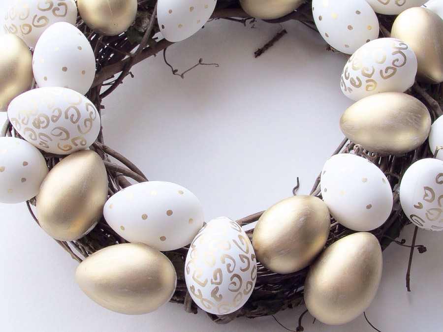 DIY painted Easter wreath sparkleshinylove
