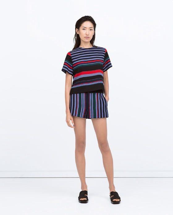 Zara Multicolor stripe shorts