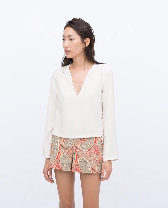 Zara High Eaist Printed Shorts