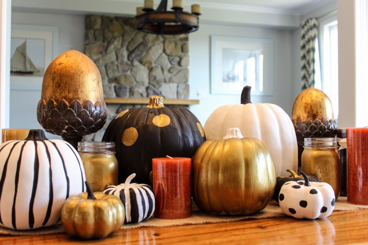 DIY Painted Pumpkins sparkleshinylove