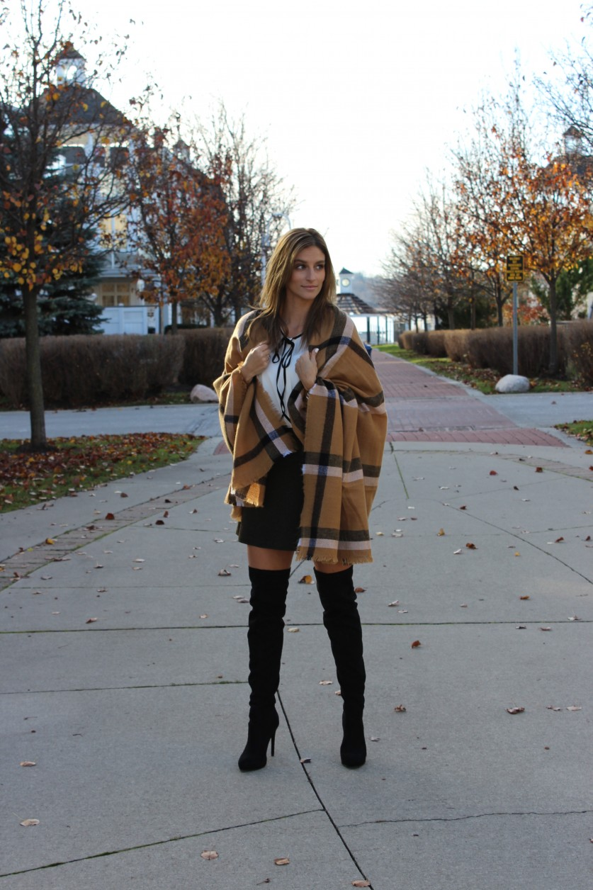 How to style a skirt for Winter wtih the help of Upper Canada Mall