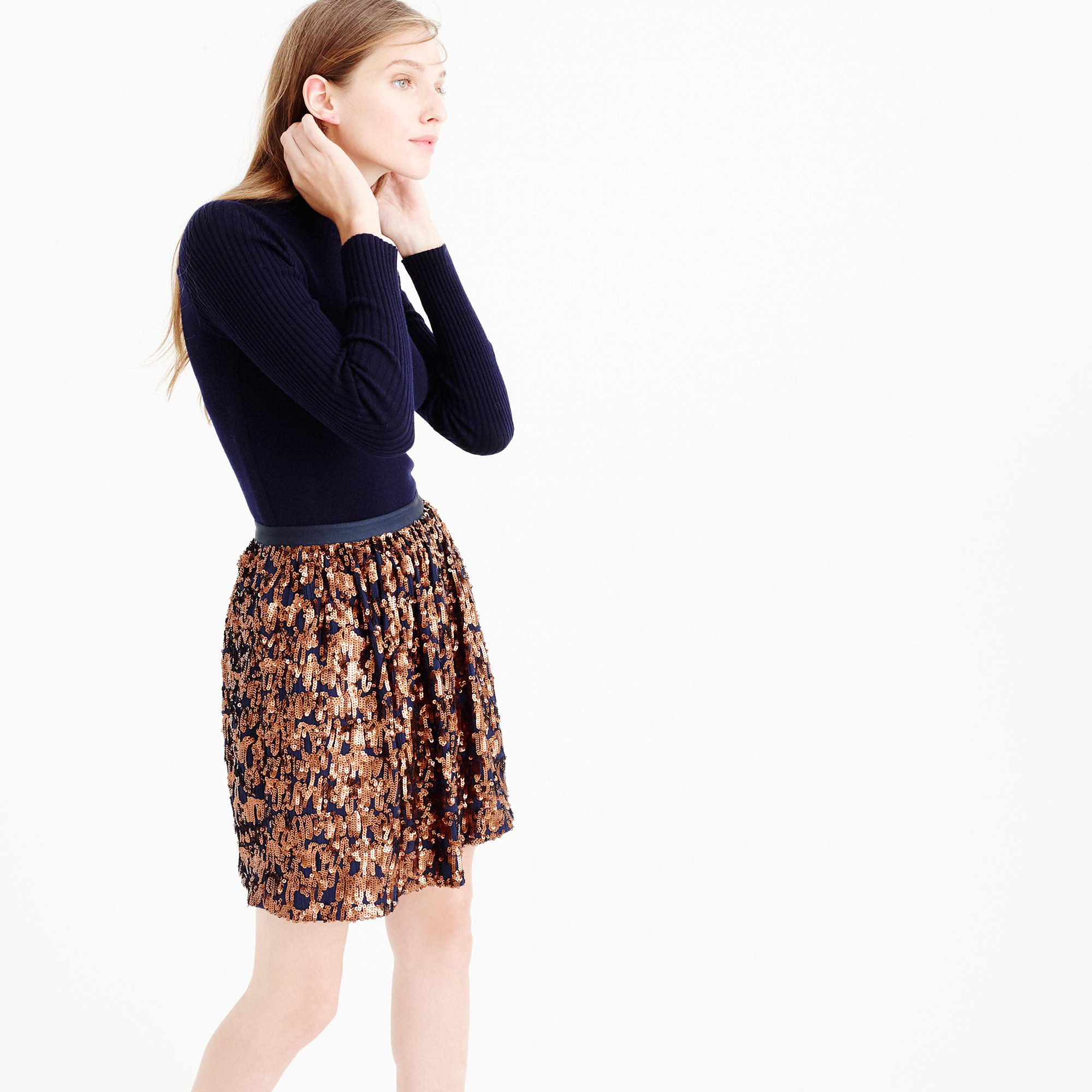 J. Crew Abstract Sequin Skirt