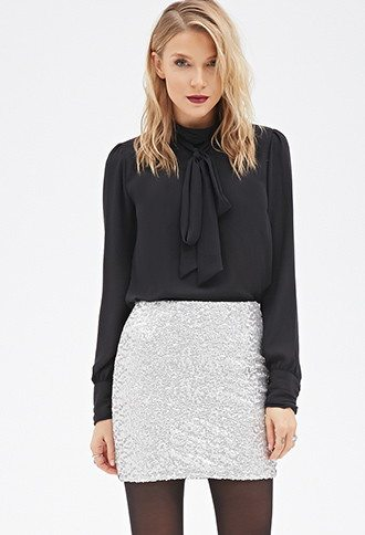 Forever 21 Sequinned skirt