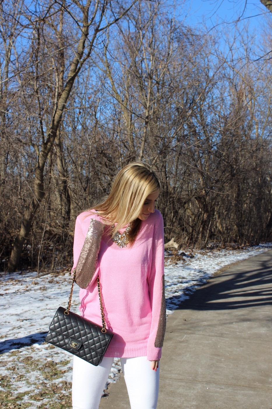 a9f4e711091c7 A Pink and Sparkly Look from Pink Blush + A $50 Gift Card Giveaway!