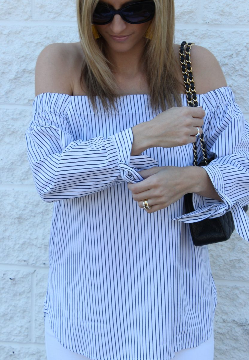 Pinstripes, Fringe and Off the Shoulder