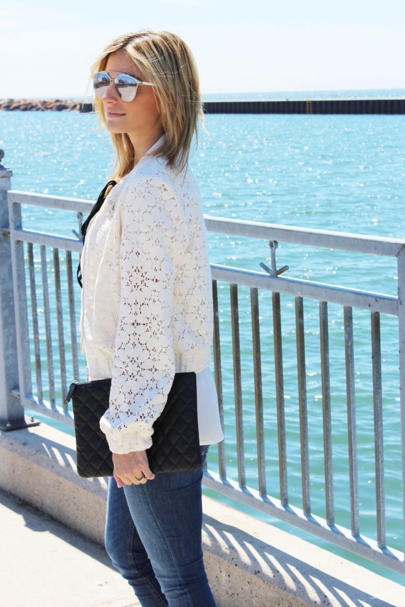 Lace Bomber Jacket for the Win