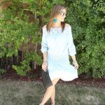Baby Blue Splice Dress