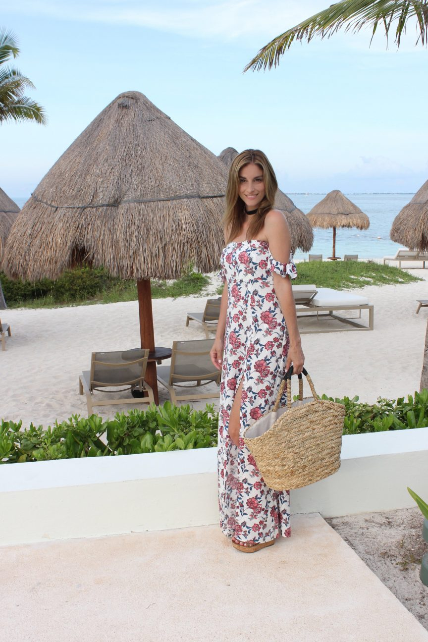 Floral Maxi with the Perfect Slit