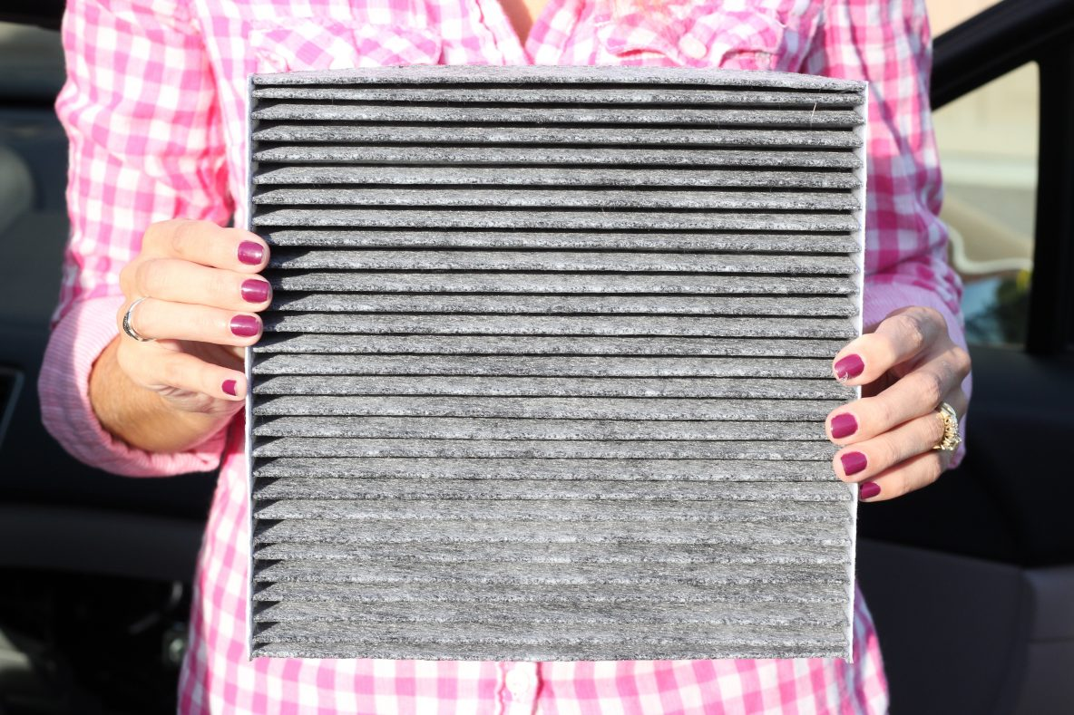 What a FRAM cabin air filter looks like