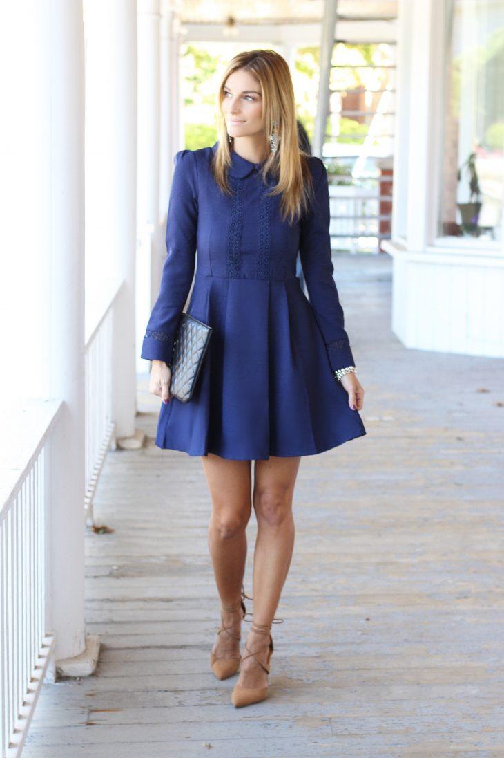 Blue-peter-pan-collar-dress