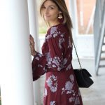Burgundy Bell Sleeves dress from Forever 21