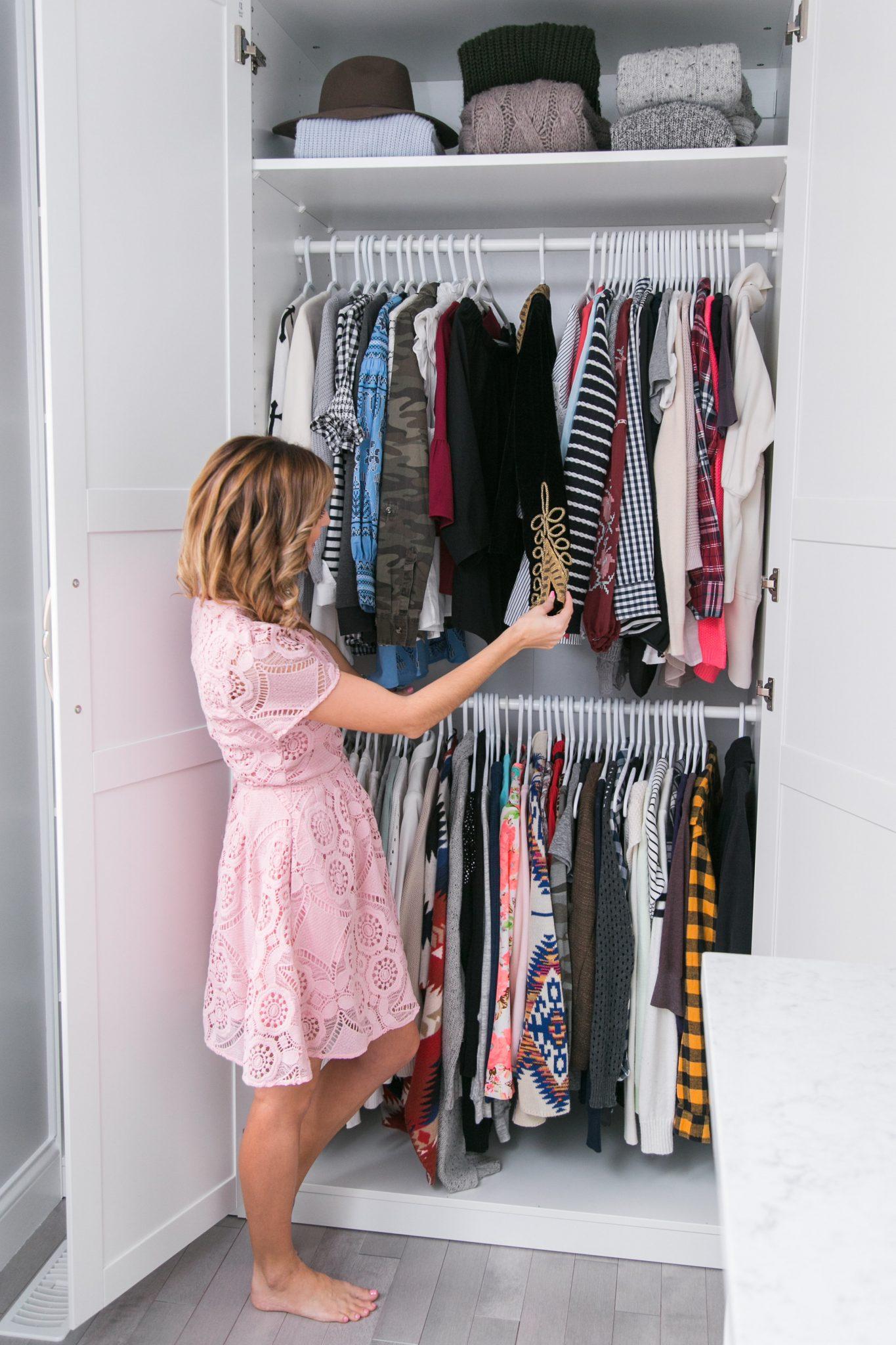 Ikea Closet Hack Tutorial sparkleshinylove