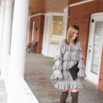 ChicwishTiered Fantasy Sweater Dress in Grey