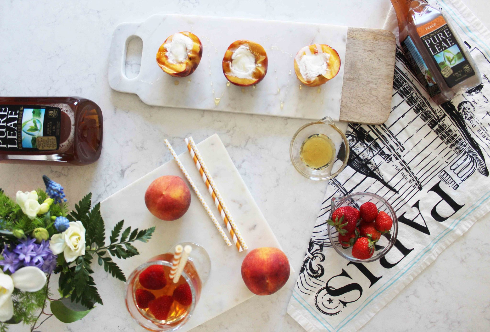 Fresh Hosting Idea's with Pure Leaf Peach sparkleshinylove