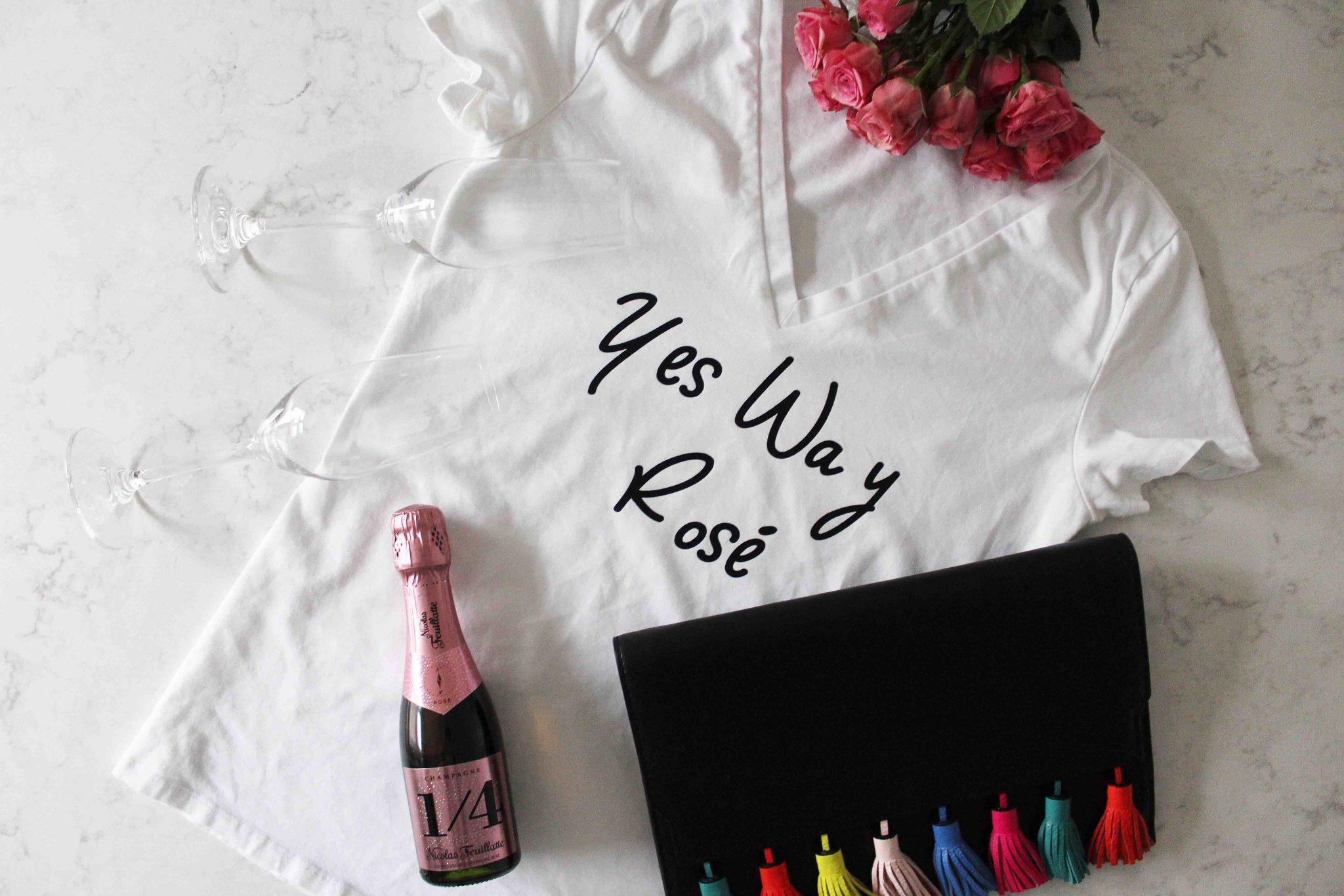 Yes Way Rose Shirt make with Cricut