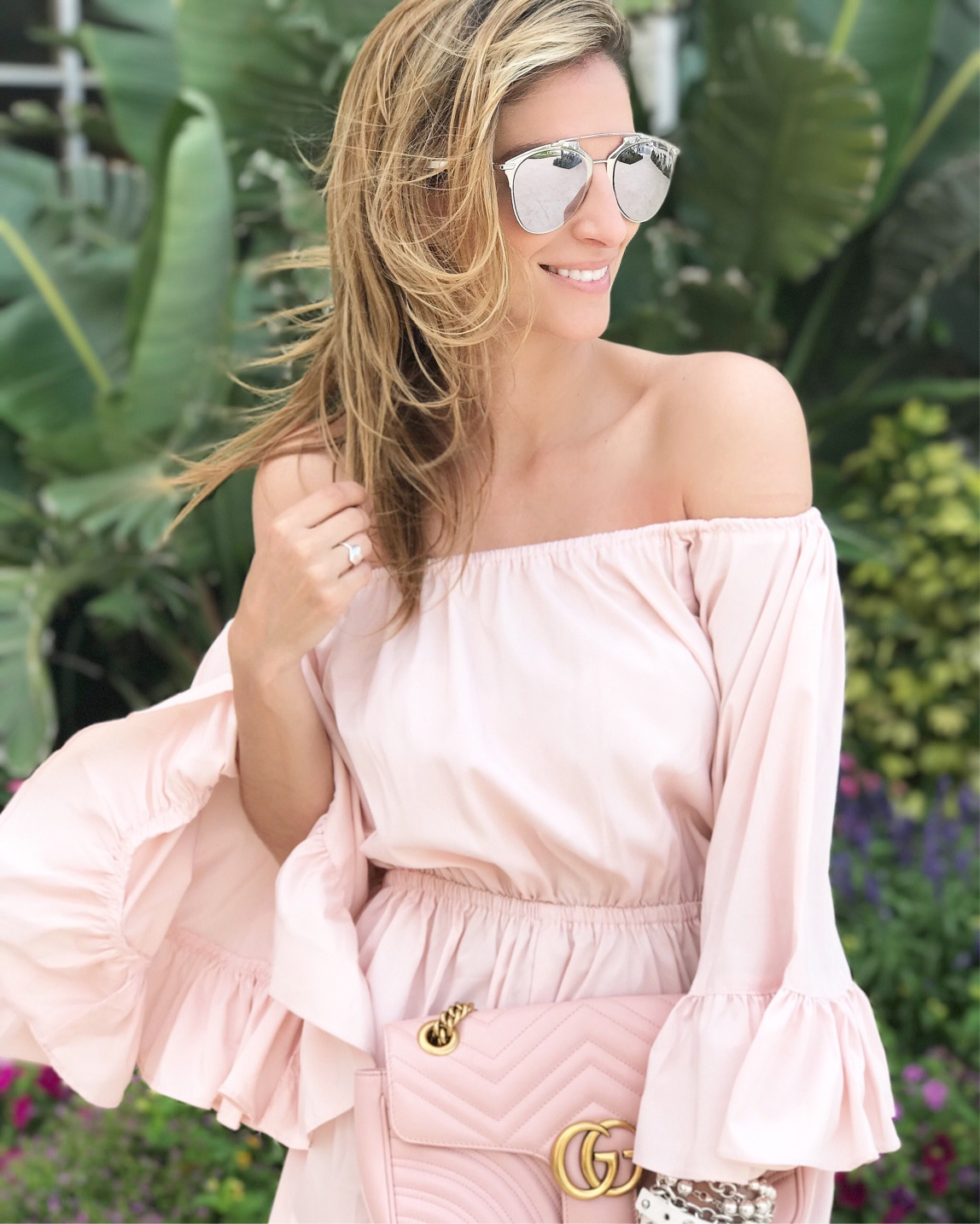 mandy furnis chicwish Pink frilled romper