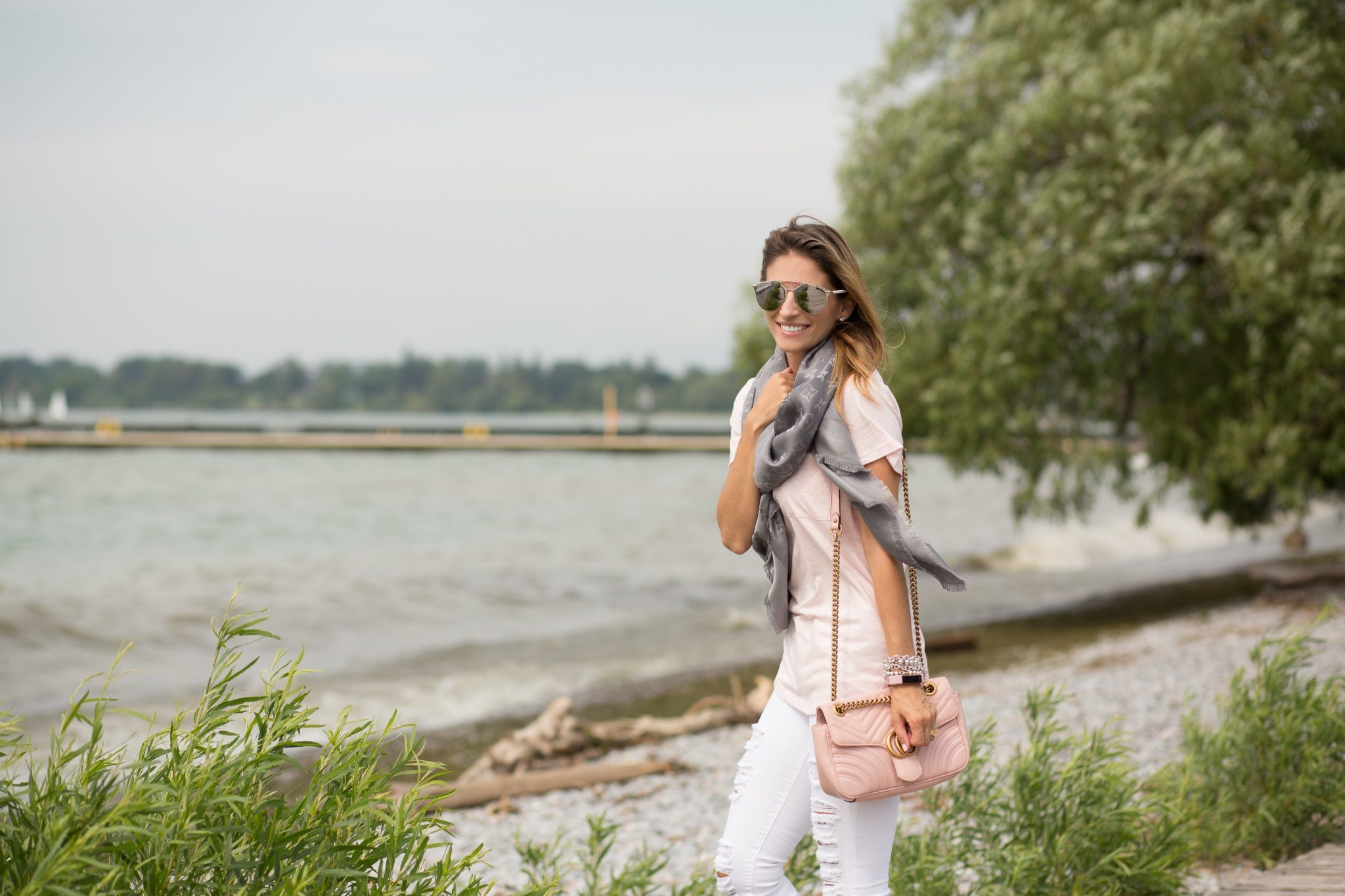 How to wear the Louis Vuitton Monogram Shine Shawl Mandy furnis