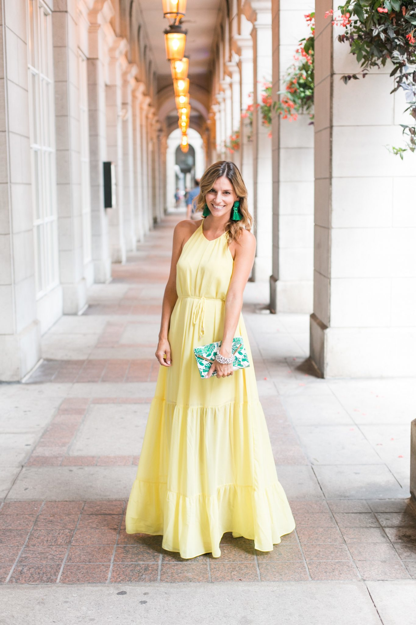 Yellow Maxi Dress Blogger Oshawa Centre