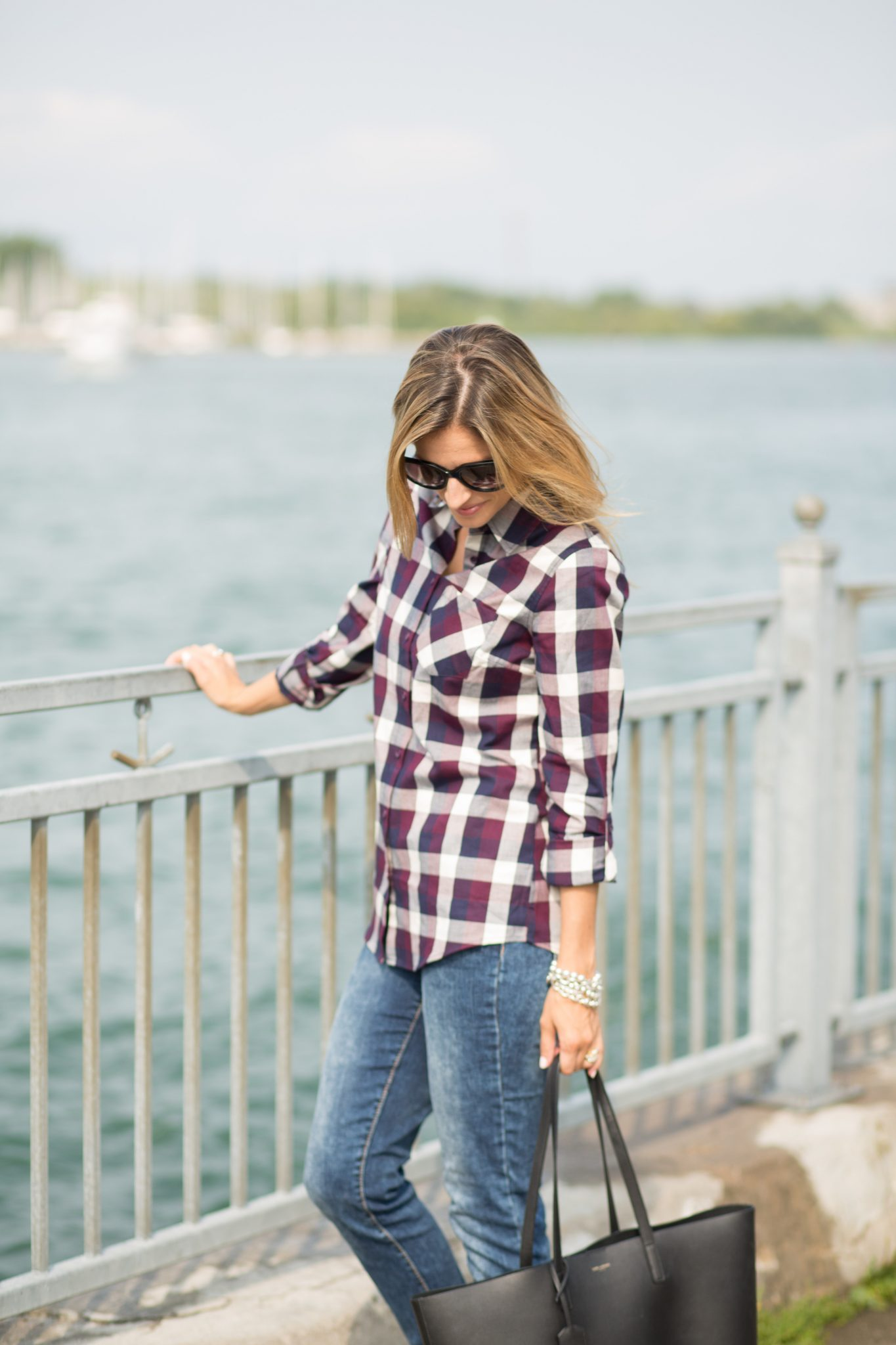 fall plaid style in the summer