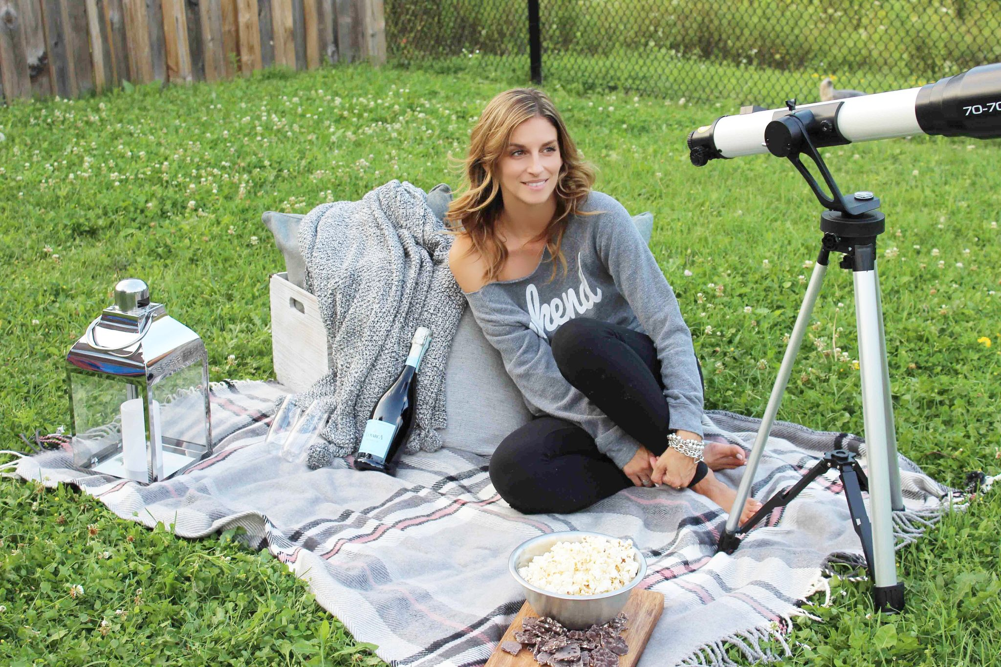 Spending the night stargazing with La Marca Prosecco