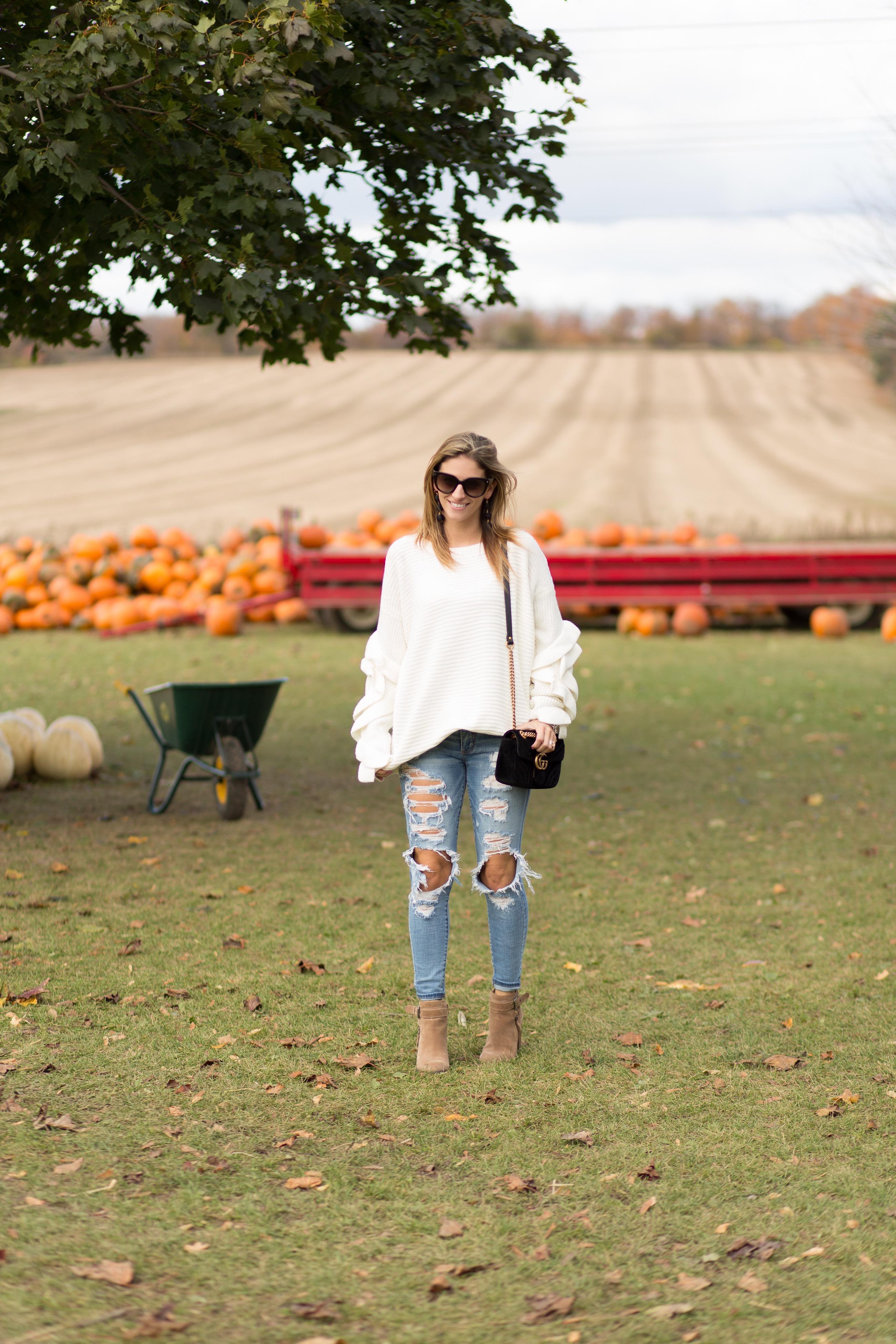 Oversized frilled sweater Chiciwish
