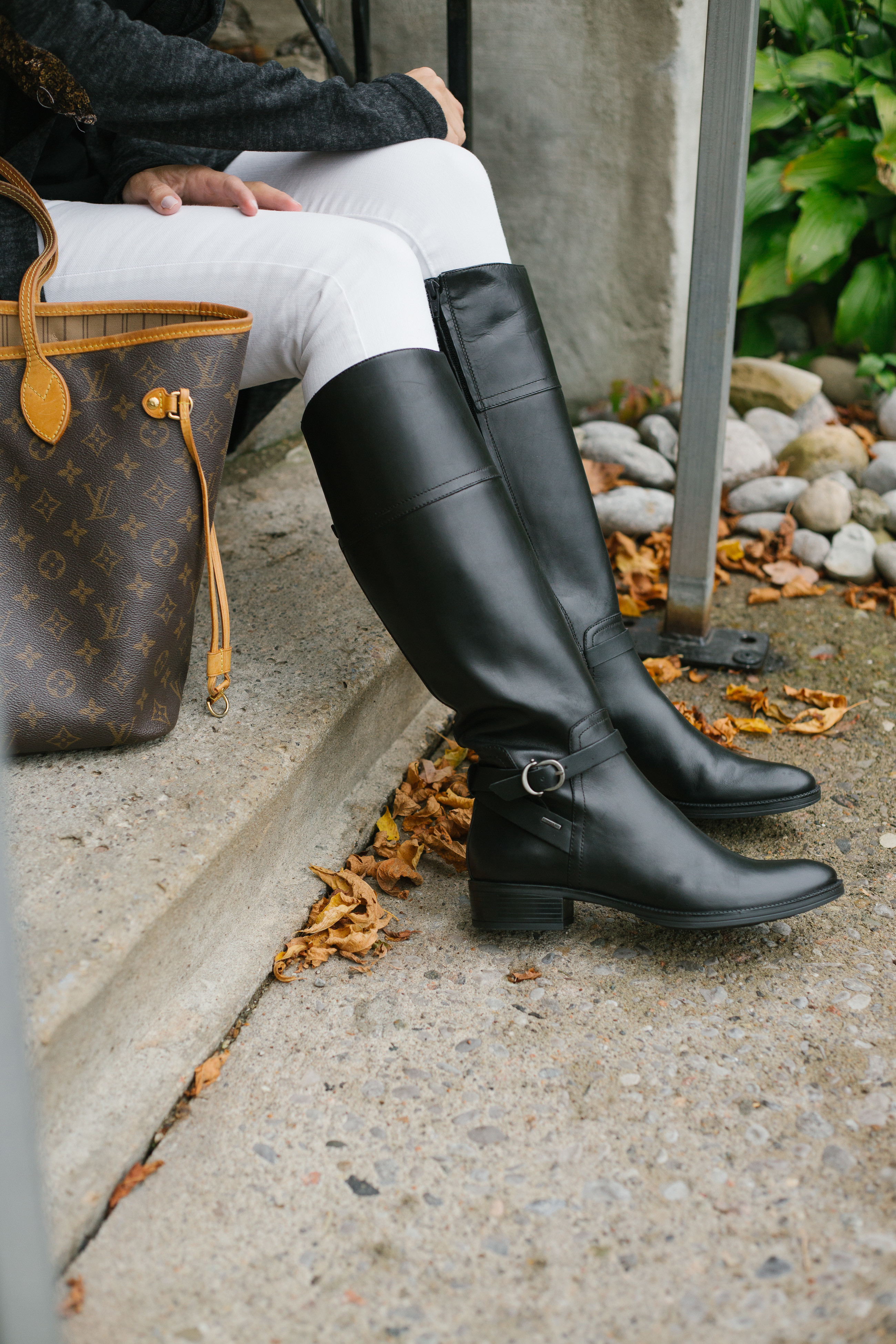 Black Geox riding boots