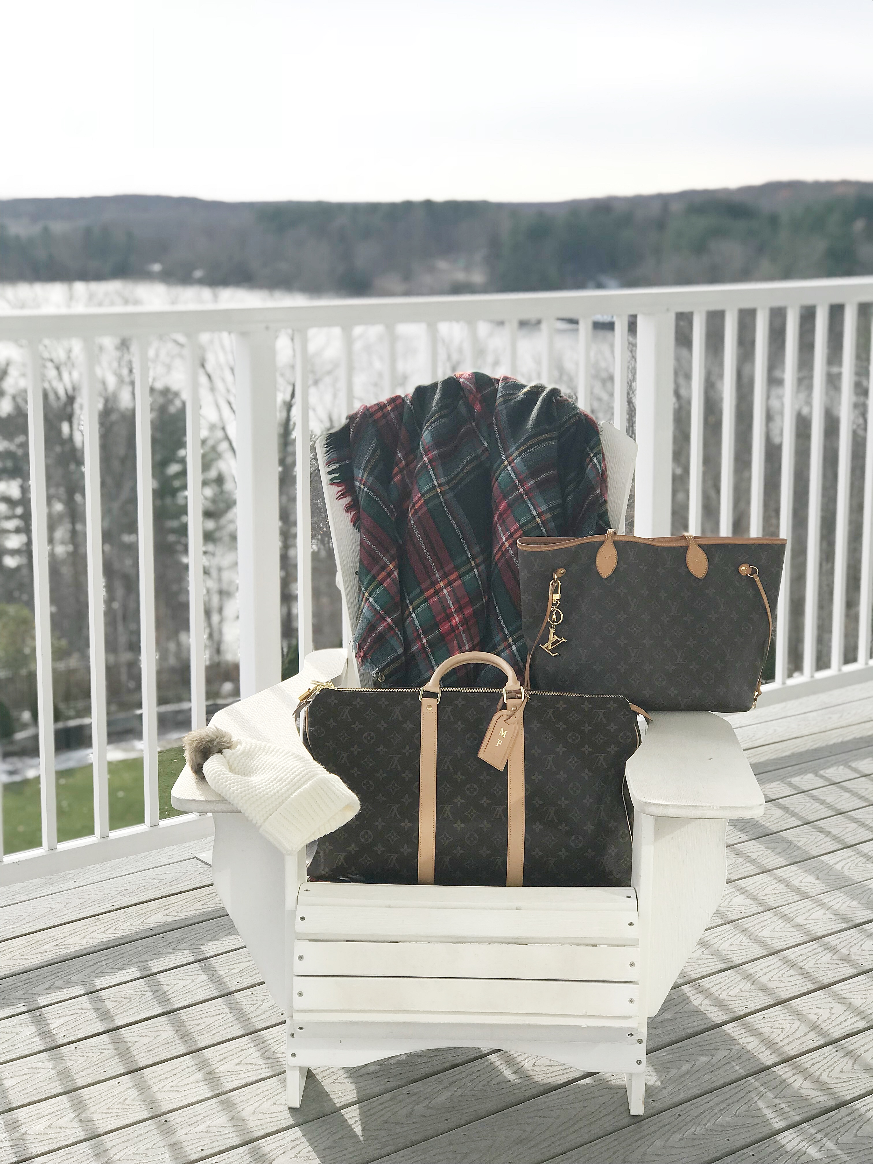 Louis Vuitton Luggage set girls weekend trip #ultimategirlsweekendto