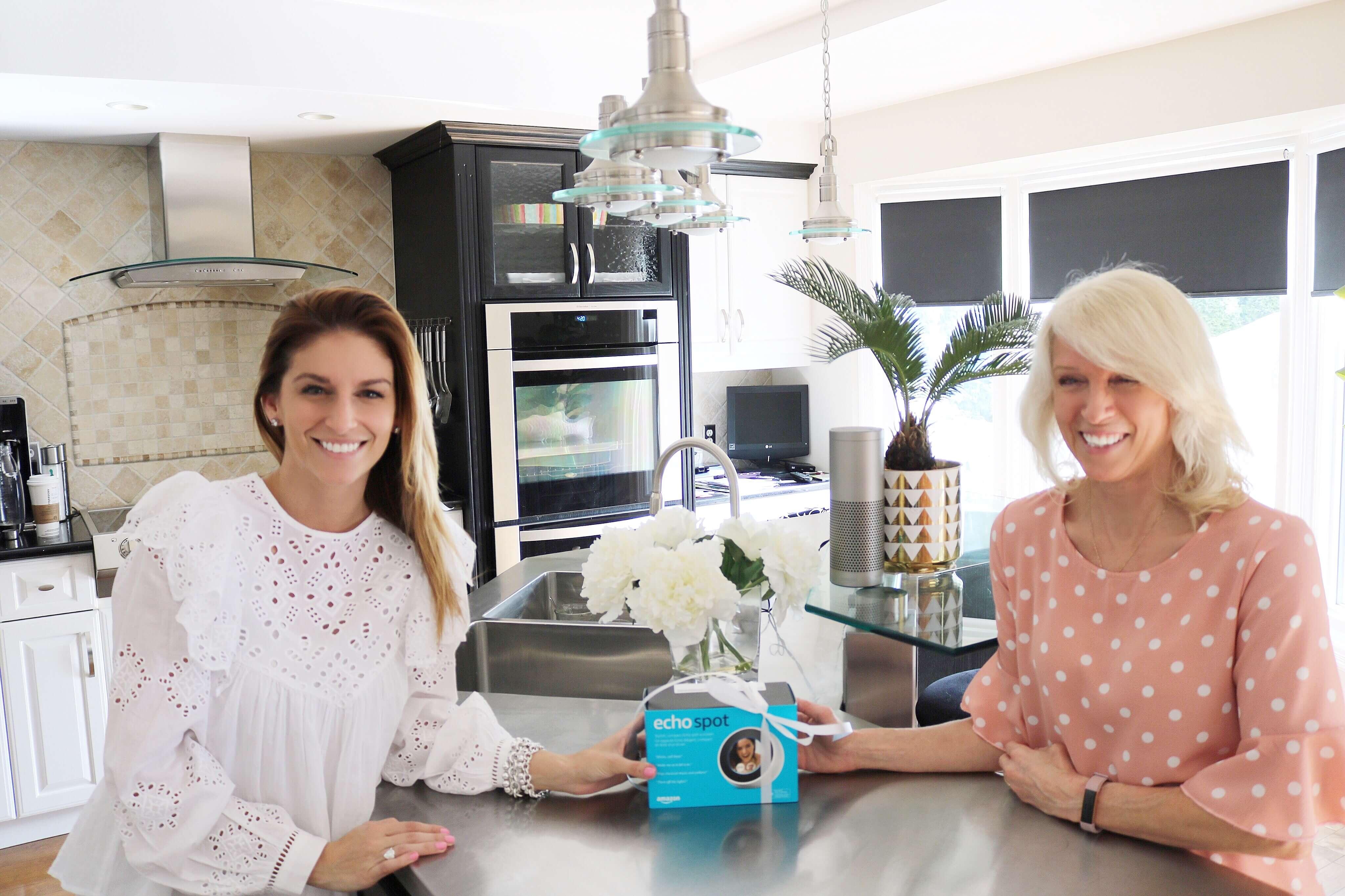 Mother's Day Gift Ideas- Amazon Echo Spot sparkleshinylove