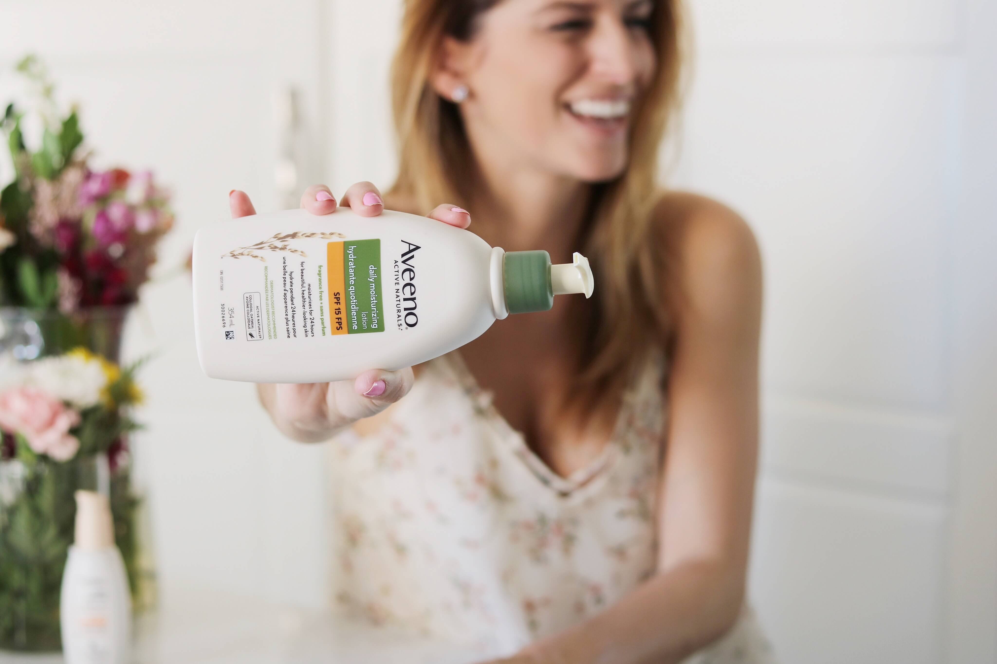 review of NEW AVEENO® ULTRA-CALMING® Daily Moisturizer Mineral SPF 30 sparkleshinylove mandy furnis
