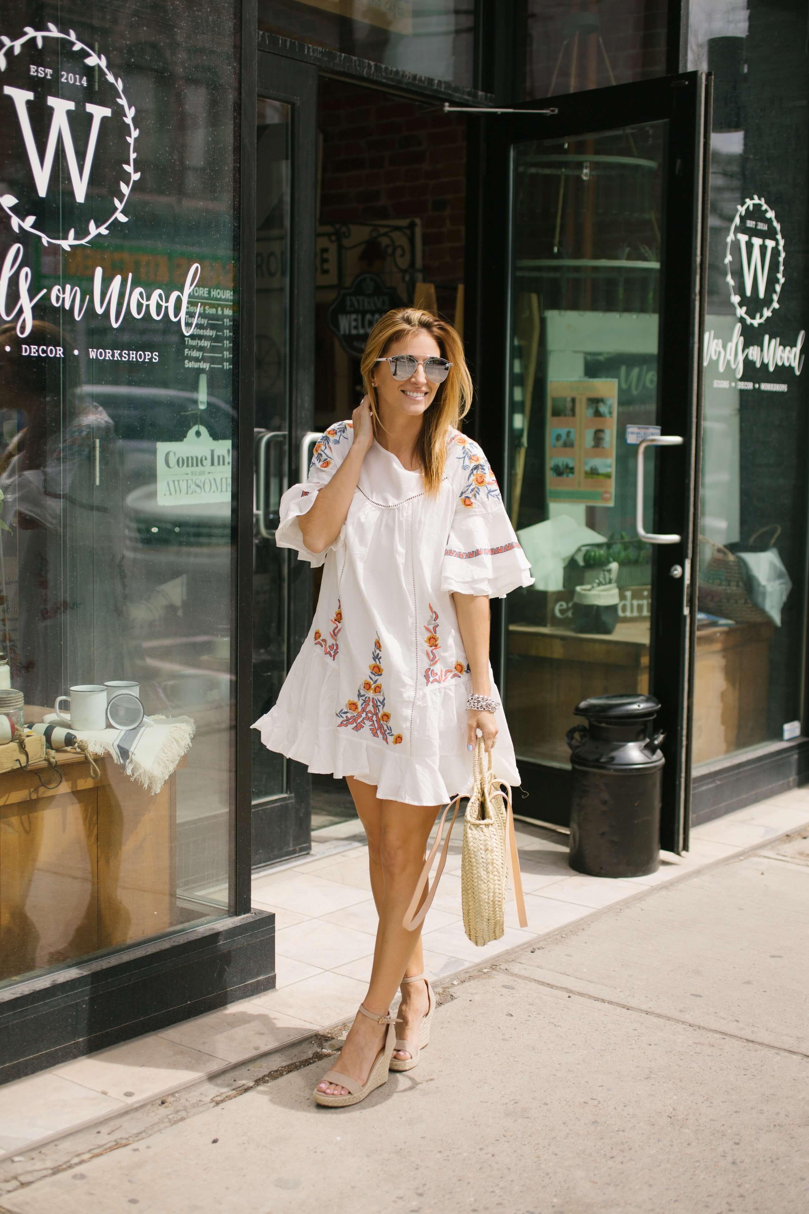 6042ca71286 Little White Summer Dress - sparkleshinylove