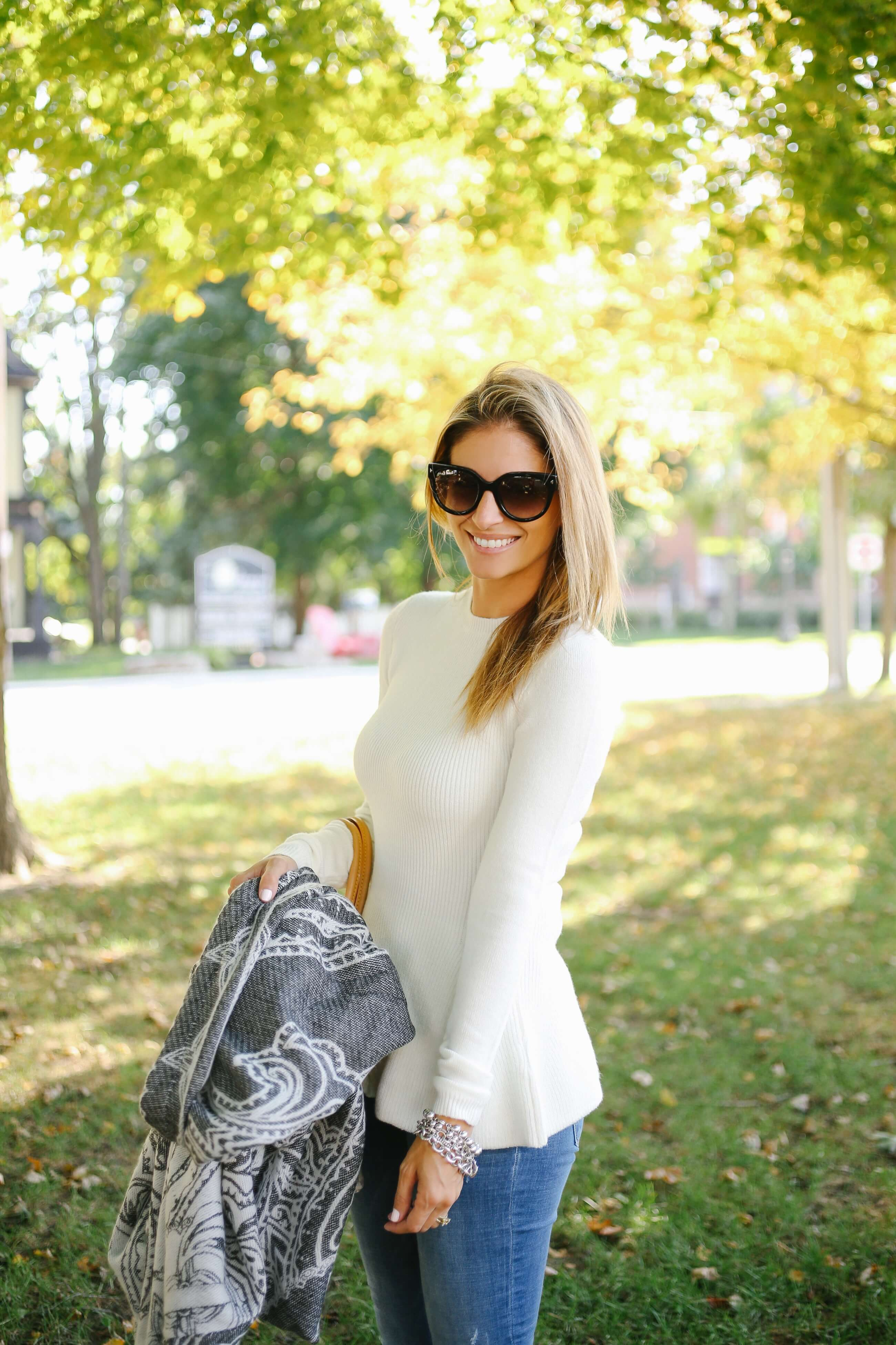 Cozy fall look from Suzy Shier; The best fall sweater!; sparkleshinylove