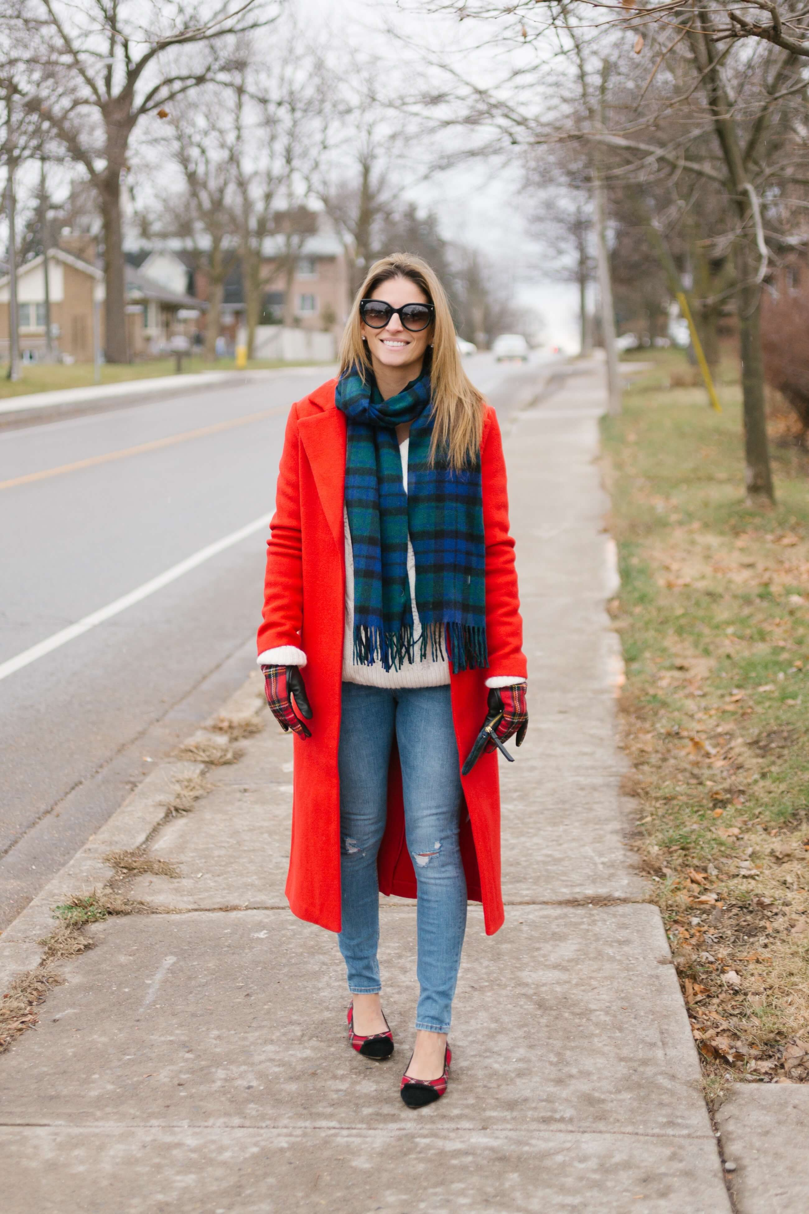 festive holiday look; red long coat for the holidays; christmas look; sparkleshinylove