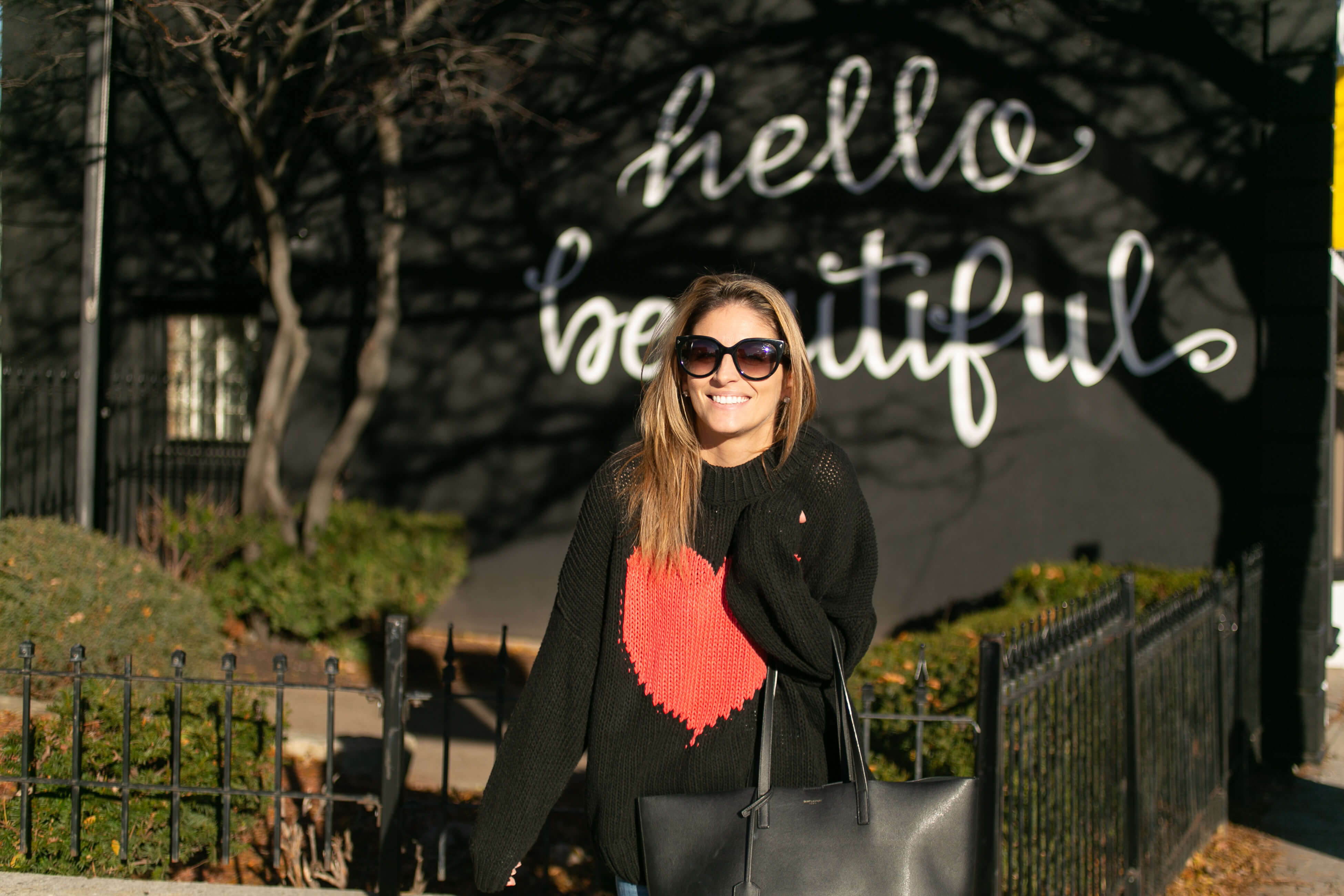 Giant heart sweater chicwish; hello beautiful wall whitby