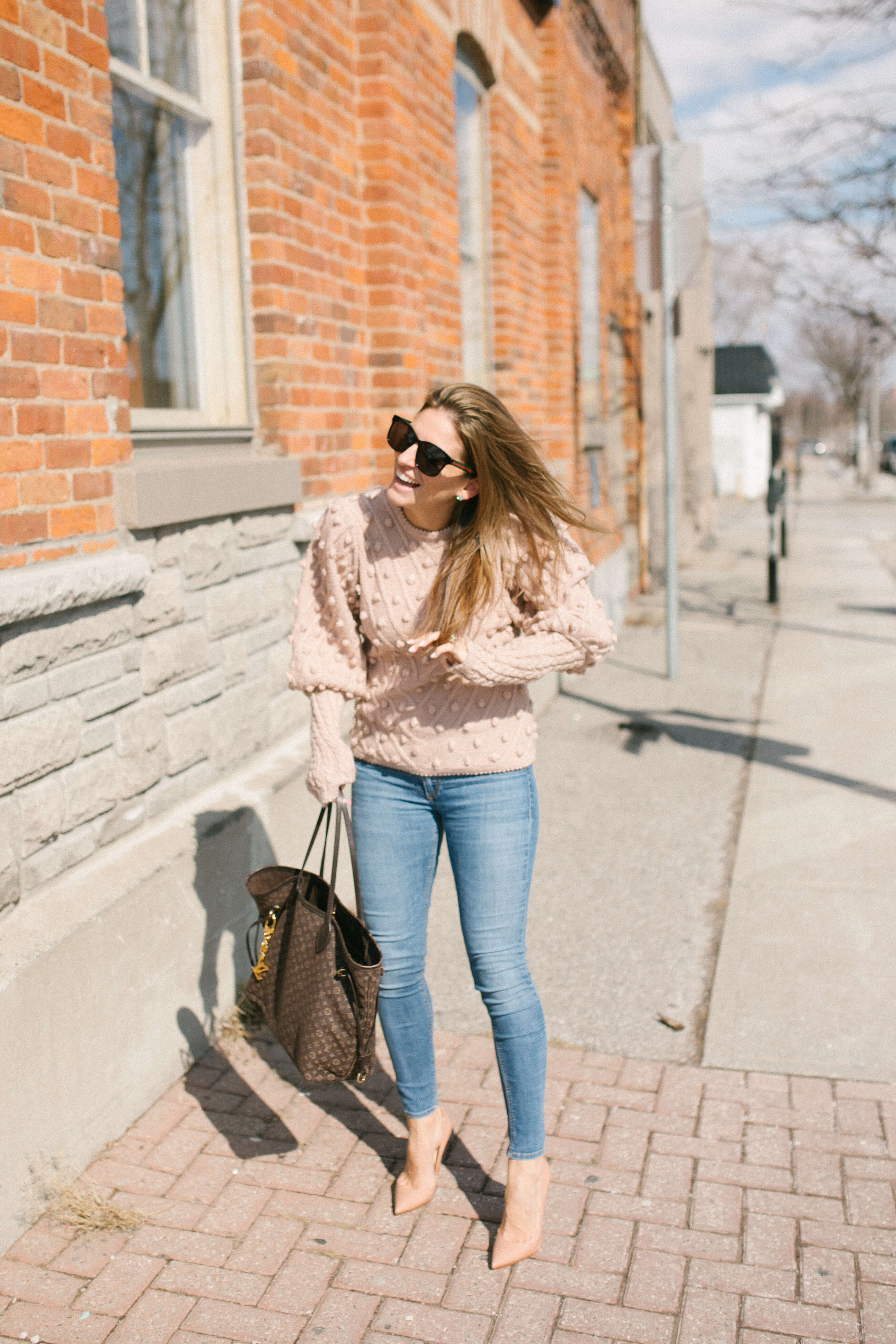 sparkleshinylove Mandy Furnis; Durham Region Blogger; Chicwish Ingenuous Girl Hand Knit Pom-Pom Sweater