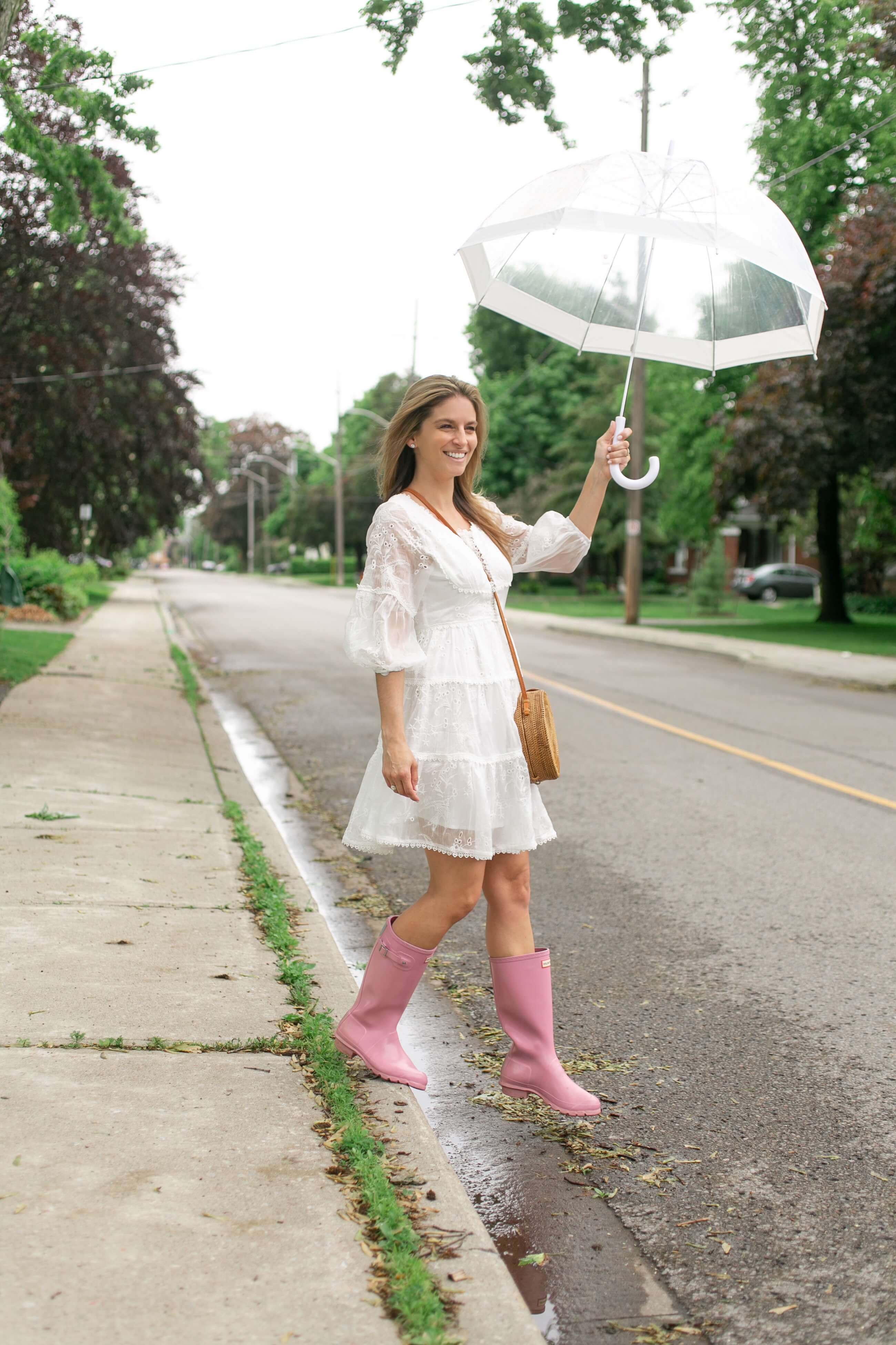 Cute rainy day look; rainy day outfit; mandy furnis sparkleshinylove