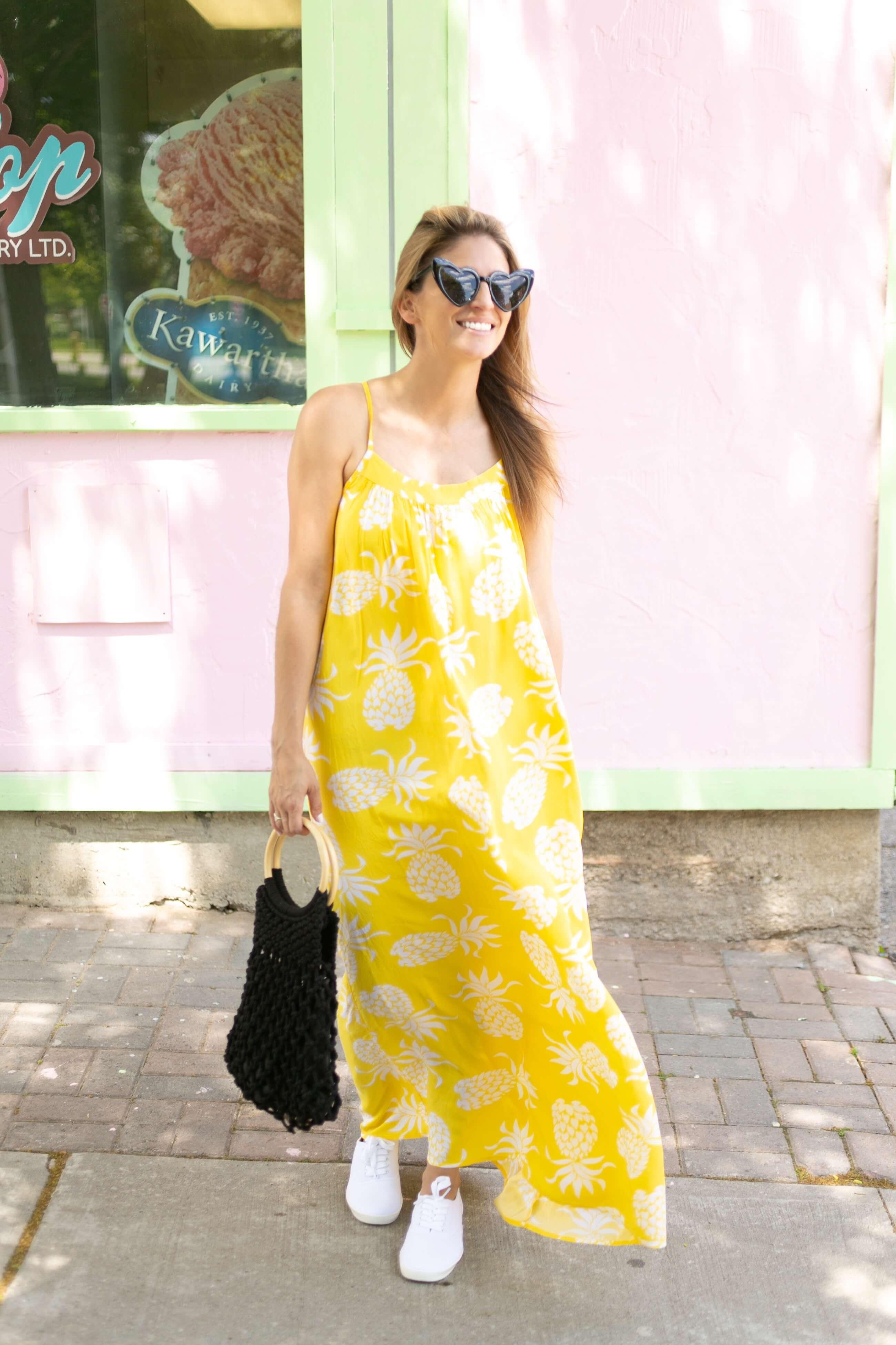 Joe Fresh Summer Style; #Freeyourfresh; Joe Fresh Pineapple Dress; Mandy Furnis sparkleshinylove