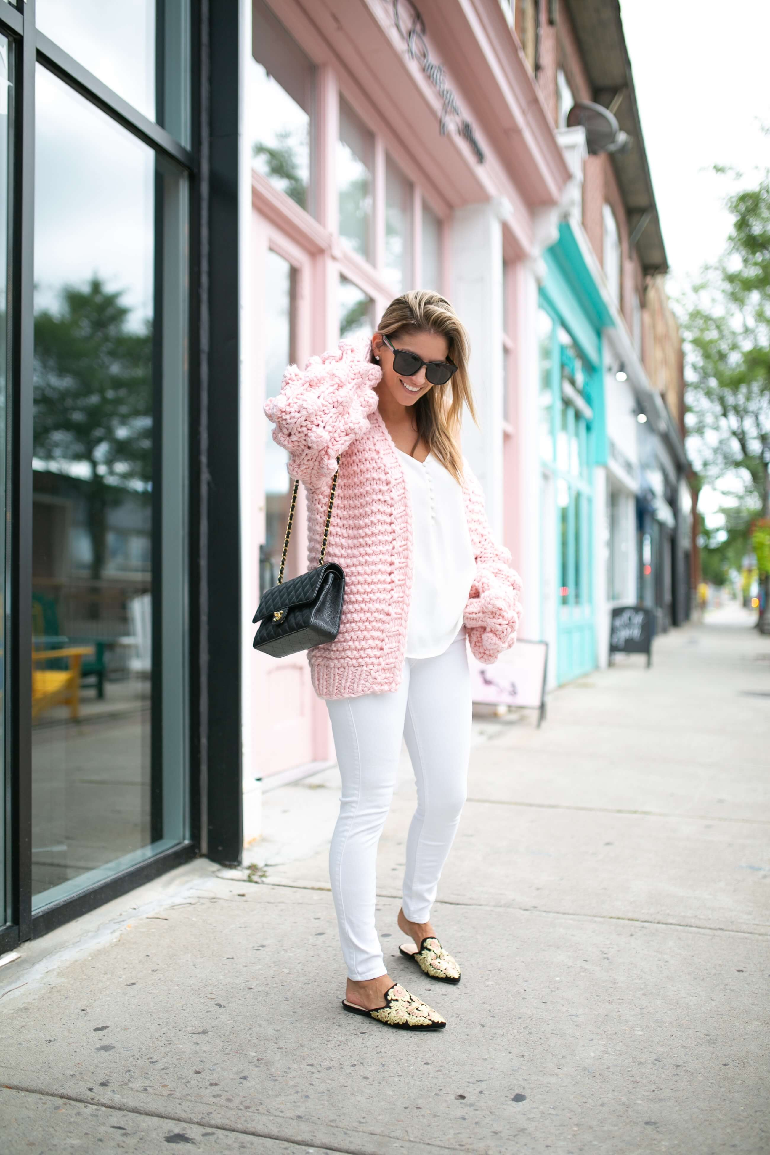 Chicwish Cuteness on Sleeves Chunky Cardigan in Candy Pink; how to style a cardigan for fall; fall outfit ideas; chunky sweater; mandy furnis sparkleshinylove