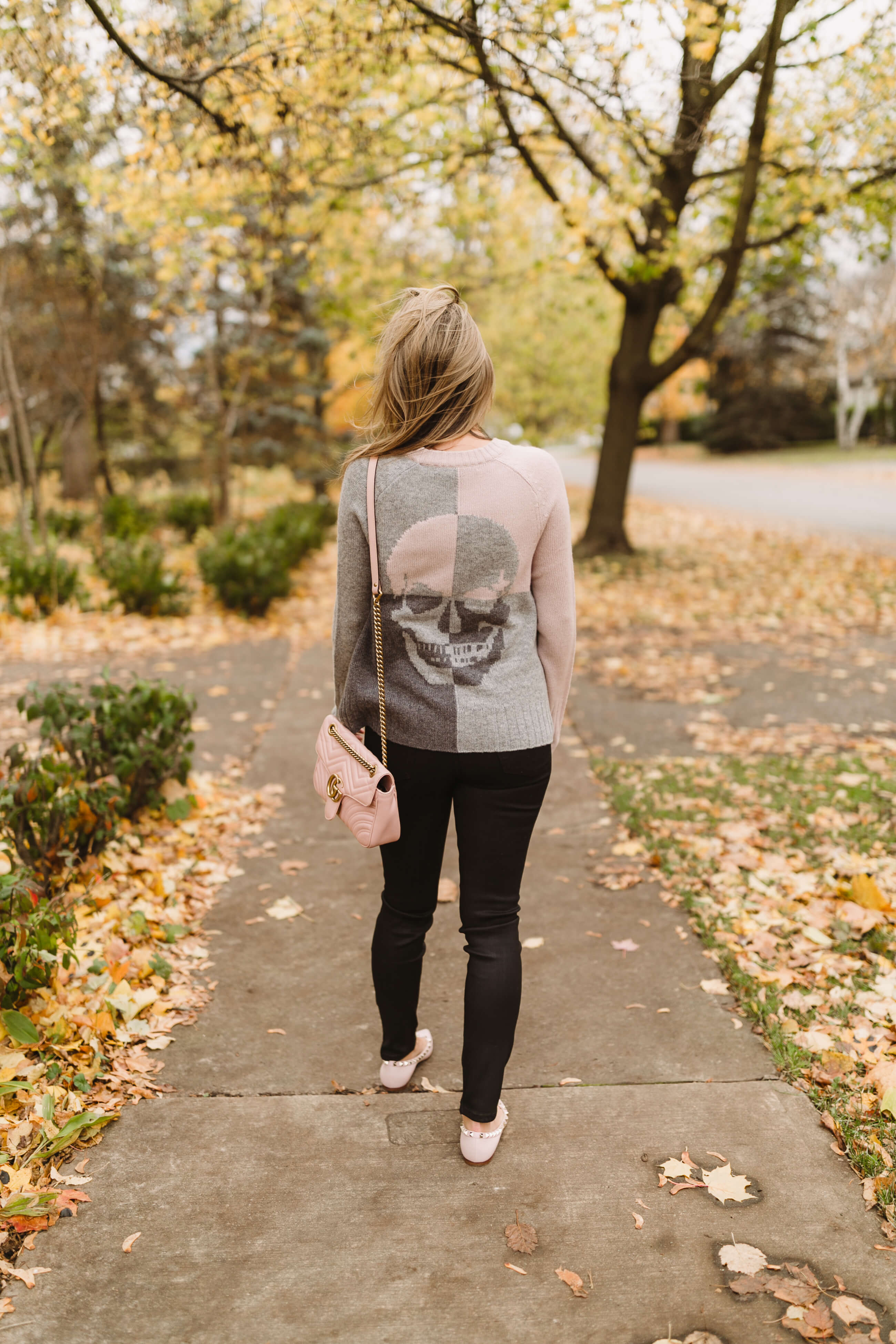 Garbo's Boutique outfits; durham Region shopping; skull sweater Mandy Furnis sparkleshinylove
