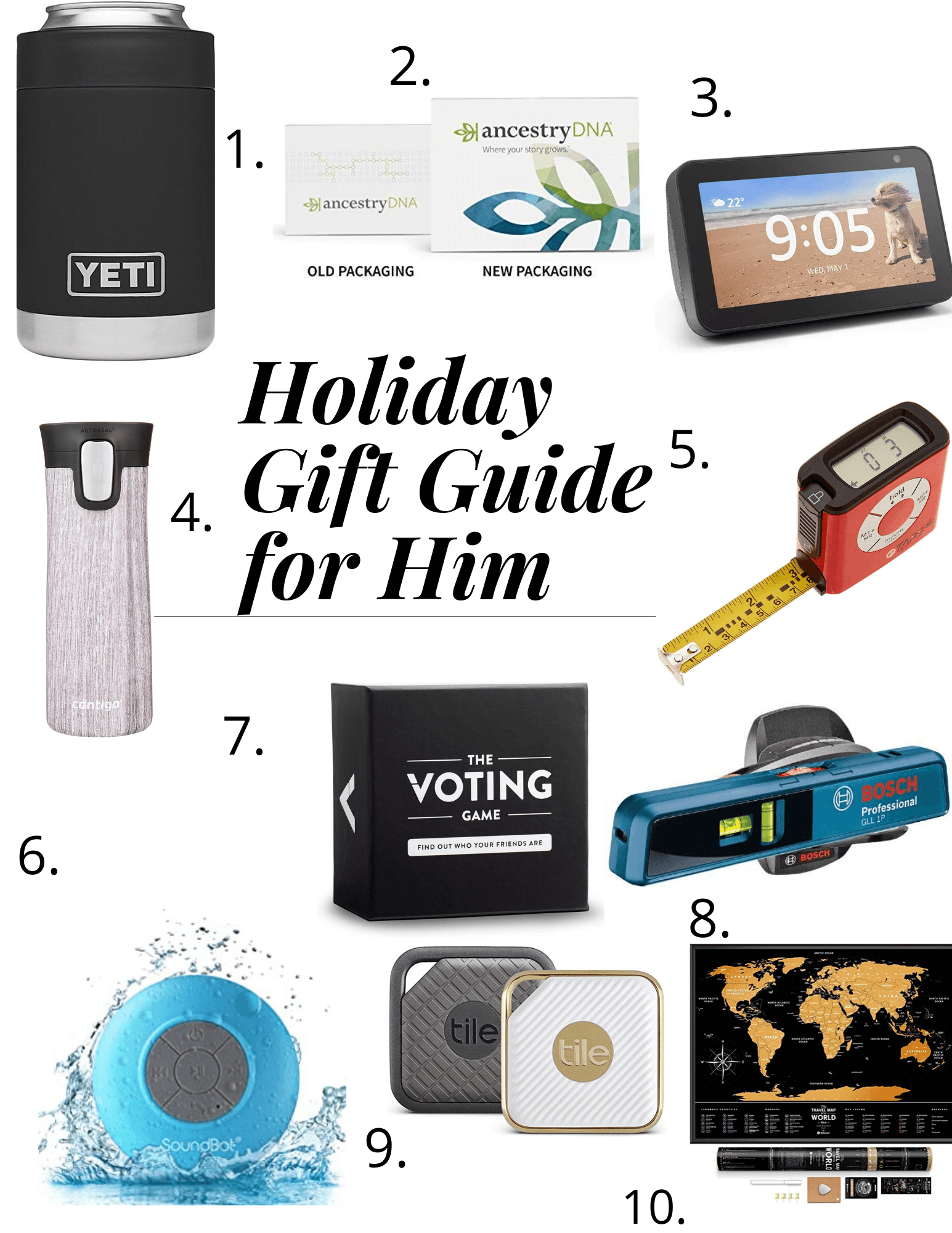 Christmas holiday Gift Guide for Him sparkleshinylove; gift ideas for him
