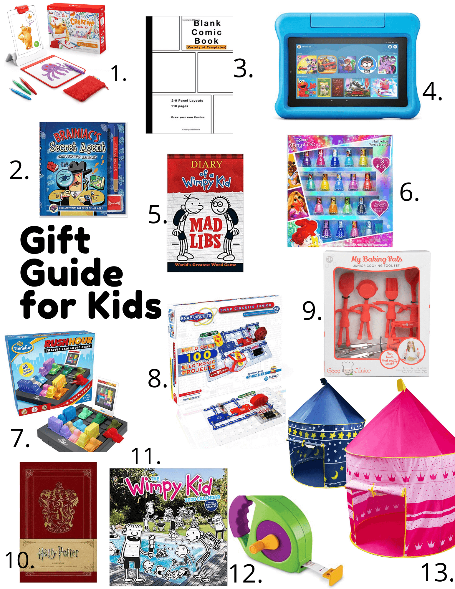 Christmas holiday Gift Guide for Kids sparkleshinylove; gift ideas for kids